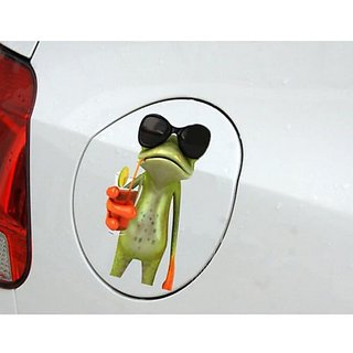 Delhitraderss 3D Funny 3D Green Lying Frog Car Stickers Wall Truck Window Vinyl Decal Sticker
