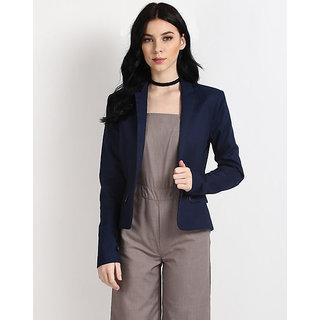 Women's Blue Casual Women's Winter Blazer