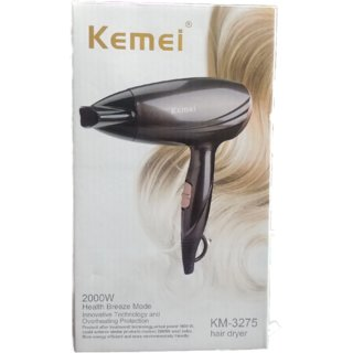 Kemei KM-3272 2000W Hair Dryer (Black) Hair Dryer