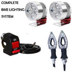 FOG LIGHT 4 LED 2 PCS + 1 ON/OFF SWITCH + 2 PCS POINTER INDICATOR LIGHT