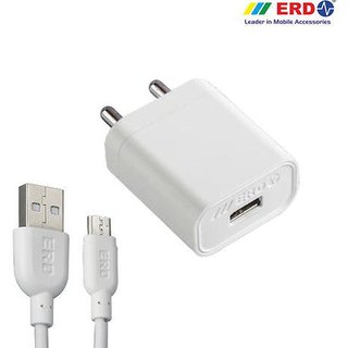 ERD TC 40 5V 1Amp Super Fast Charger All Smart Phones With Cable Mobile Charger Mobile Charger  White, Cable Includ Adapters   Chargers