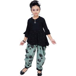 Arshia Fashions Girls Party Wear Kurti And Dhoti Salwar Set - Blue