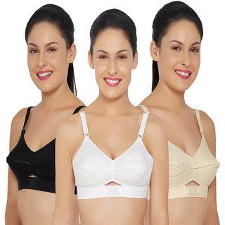 NK Derams Pure Cotton Bra (Beige,Black,White)
