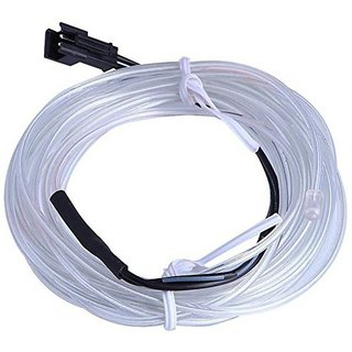 Cold Light Line EL Wire ICE BLUE Color 5 Meters Car Interior Decoration  (Works With All Cars) Car Fancy Lights