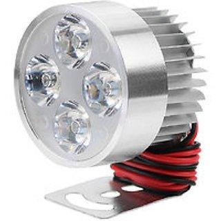 BIKE / MOTORBIKE /CAR SPOT LIGHT LED FOG Headlamp 4 LED LIGHT 12-80V 960lm - 1 PC (SMALL CIRCLE-SILVER)