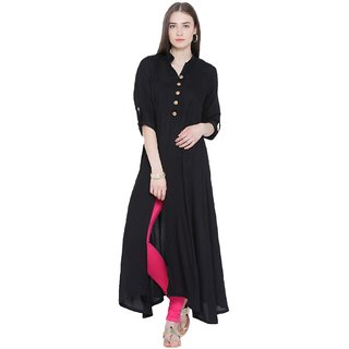 NOWT BLACK Party and Casual Wear Kurti (RWAPKU002BLA36)