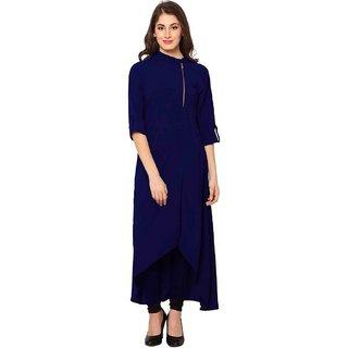 NOWT BLUE Party and Casual Wear Kurti (RWAPKU003BLU36)