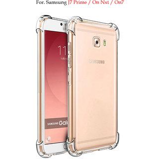 Samsung Galaxy J7 Prime  - Anti-Knock Design Shock Absorbent Bumper Corners Soft Silicone Transparent Back Cover