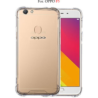OPPO F5 - Anti-Knock Design Shock Absorbent Bumper Corners Soft Silicone Transparent Back Cover For OPPO F5