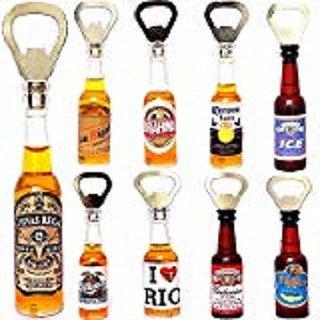 Whiskey Bottle Shaped Beer Opener and Fridge Magnet (Pack of 1)