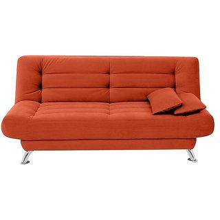 houzzcraft Cosy sofa cum bed orange
