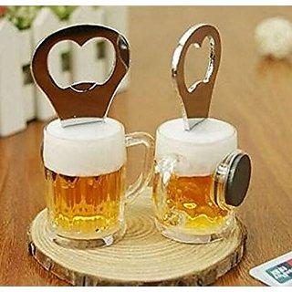 Beer Glass Shape Bottle Opener Fridge Magnet (Pack of 2 pcs)