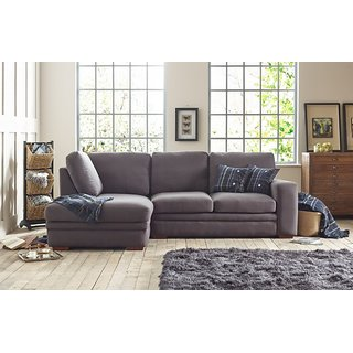 houzzcraft abbey L shape sofa grey