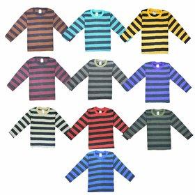 Jisha Fashion Full Sleeves Tshirt (kavin) Multicolor Pack of 10