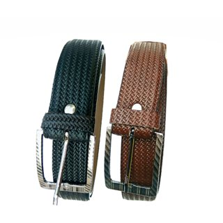 Amazeexpress - Combo of 2 Black ND Brown Belt For Nd Boys