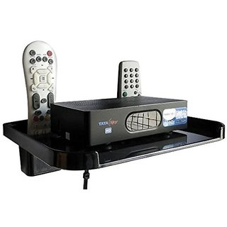 Digiway Set Top Box/DTH Stand/Shelf(Black)-Pack of 1