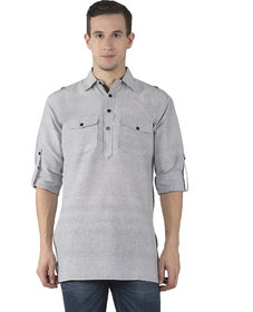 Khadio Men's Grey Kurtas