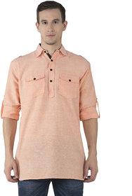 Khadio Men's Orange Kurtas