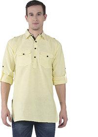 Khadio Men's Yellow Kurtas