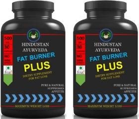 Hindustan Ayurveda Extra Fat Burner For Fat Loss Pack Of 2