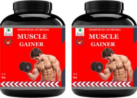Hindustan Ayurveda Weight Gainer/Muscle Gainer Pack Of 2.2lb. Chocolate Flavour