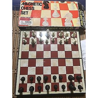 Tryviz Magnetic Chess Board Game For Kids Board Game 15 cm Chess Board (Brown)