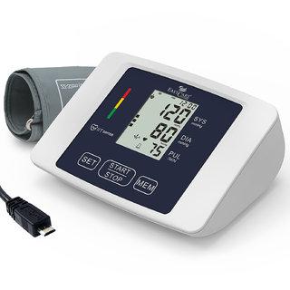 EasyCare EC-9000 Digital Blood Pressure Monitor - USB Power Supply - Upper Arm Type (White)
