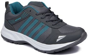 Clymb Mens Turquoise Lace-up Running Sports Shoes