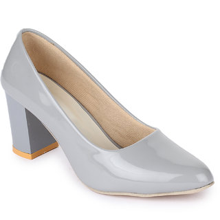 Sapatos Women Grey Block Heels