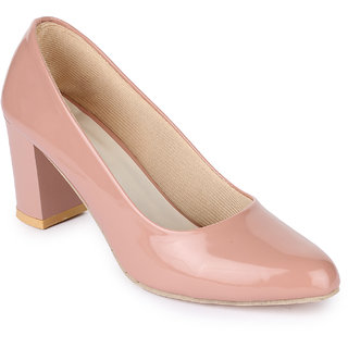 Sapatos Women Peach Block Heels