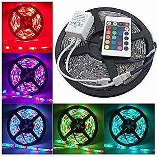 Waterproof 5M LED Strips, RGB, 300 SMD 5050 LEDs, Rope Lighting for Kitchen Cabinet, Counter, Cupboard and More