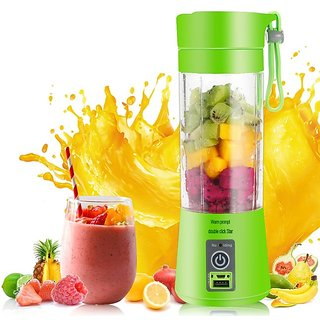 Hy Touch  Portable Plastic with Stainless Steel Blade Wireless Rechargeable Mini Automatic Electric Juicer Bottle !
