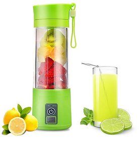 USB Personal Portable Blender Bottle Juicer, Personal Size Rechargeable Juice Blender And Mixer, 380Ml