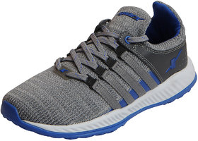 Sparx Men's Grey Blue Mesh Sports Running Shoes