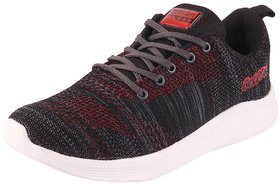 Action Men's Black Grey Sports Running Shoes