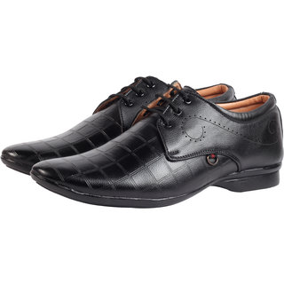Smoky Black Lace Up Formal Shoes for Men