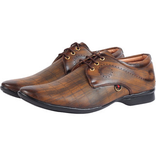 Smoky Brown Lace Up Formal Shoes for Men