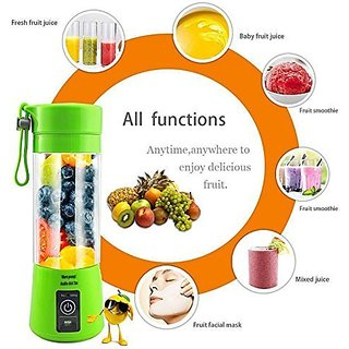 Portable Usb Juicer Blender 380Ml Bottle With Rechargeable Battery  Usb Cable