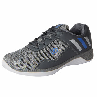 Lakhani Pace Energy Men's Grey Black Mesh Sports Running Shoes