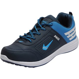 Lakhani Pace Energy Men's Navy Sky Blue Mesh Sports Running Shoes