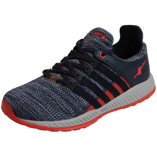 Sparx Men's Navy Red Mesh Sports Running Shoes