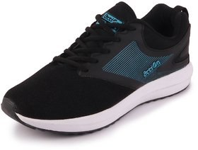 Action Men's Black Sports Running Shoes