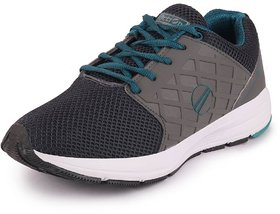 Action Men's Grey Green Sports Running Shoes