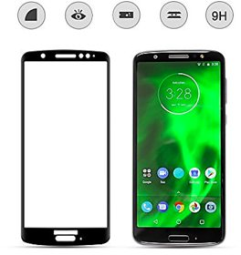 Moto G6 5D Glass Full Covrage, Fully Glue 9H Hardness Tempered Glass  High Qaulity