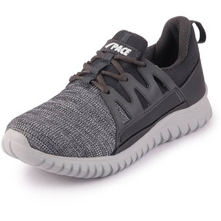 Lakhani Pace Men's Grey White Sports Running Shoes