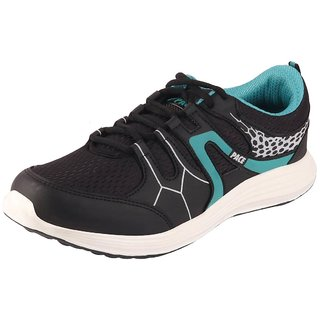 Lakhani Pace Energy Men's Black Green Sports Running Shoes