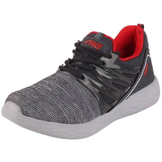 Lakhani Pace Men's Black Red Sports Running Shoes