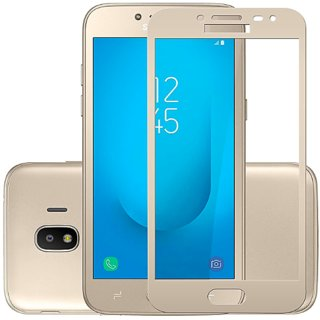 Samsung J2 2018 5D Glass Full Covrage, Fully Glue 9H Hardness Tempered Glass  High Qaulity