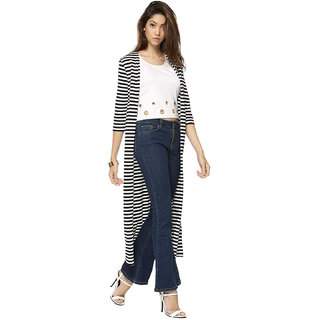 aarmy fit ladies black and white strip shurgs