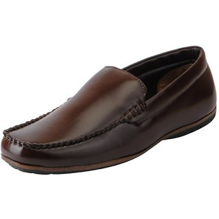 Bata Mens Brown Formal Slip On Shoes